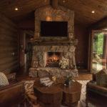 Arrowhead-custom-rustic-fireplace-with-rustic-log-mantle