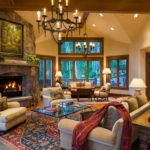 Vail-Mountain-Elegant-great-room-stone-fireplace-and-hearth-room